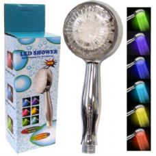 36 Units of Shower Head 3 Color 9 Head Temperature Detect - Shower Accessories