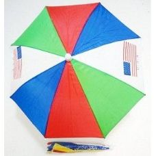 48 Units of Umbrella hats with american flag assorted colors