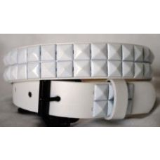 48 Units of Kids belts white studs on white belts - Kid Belts