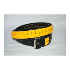 48 Units of 2-Row Metal Pyramid Studded kids Leather Belt Unisex boys girls - Unisex Fashion Belts