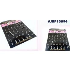 126 Units of Body jewelry/ body piercing with display - Body Jewelry