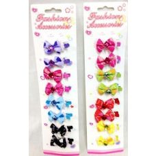 96 Units of Girls Hair Pins Gator Flower Clips 8pcs/pk 12pks - Hair Accessories