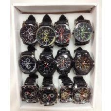 24 Units of Men/Boy Silicone Watch Assorted Styles Adjustable sizes