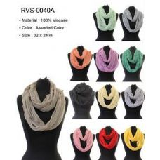 48 Units of Plain Solid Bright color Infinity Circle Scarf Scarves - Womens Fashion Scarves