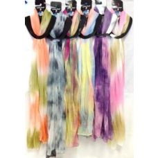 48 Units of Tie Dye Color Assortment Lady Scarve - Womens Fashion Scarves