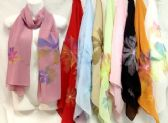48 Units of Silk Scarves with Large Flower - Womens Fashion Scarves