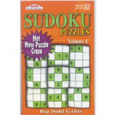 72 Units of SUDOKU Puzzles Big Bold grids asst. - Crosswords, Dictionaries, Puzzle books
