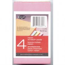 "48 Units of Neon Scratch Pads - 3"" x 5"" - 4 pack - 40 sheets/pad - Notebooks"