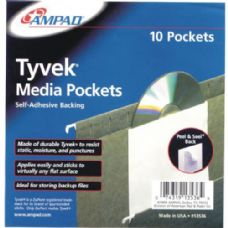 24 Units of Self adhesive CD pockets - CD and DVD Accessories