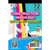 48 Units of Construction Paper Pad, 6x9, 72 Sheets - Paper