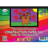 36 Units of Construction Paper Pad, 9x12, 36 sheets - Sketch, Tracing, Drawing & Doodle Pads