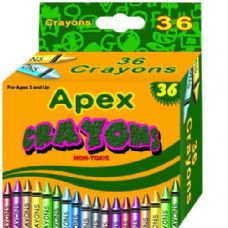 60 Units of Apex Crayon 36Ct Compare to Crayola Quality - Chalk,Chalkboards,Crayons