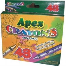 48 Units of Apex Crayons - Chalk,Chalkboards,Crayons