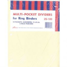 40 Units of AMPAD Pocket Dividers - 5 pk. - 10 Pockets