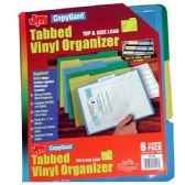 24 Units of COPY GARD Tabbed Vinyl Organizer 6pk. Top & Side Load