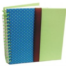 48 Units of Green Fancy Wire Spiral Notebook 6x6 - Notebooks