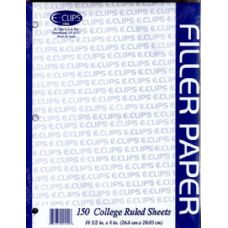 48 Units of Filler Paper, 150 Count, College Ruled - Paper