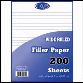 36 Units of Filler Paper, 200 Count, Wide Ruled - Paper