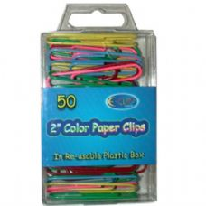 """48 Units of 2"""" Color Paper Clips 50ct - CLIPS/FASTENERS"""