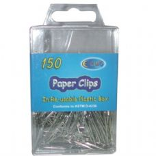 48 Units of Silver Paper Clips 150ct - Push Pins and Tacks