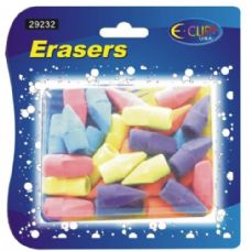 48 Units of Pencil Top Erasers, 30 Ct., Asst. Colors - ERASERS