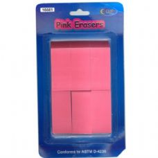 48 Units of Pink Erasers 6pk - ERASERS