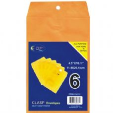 """48 Units of Clasp Envelopes - 4.5"""" x 10.5"""" - 6 count - Envelopes"""