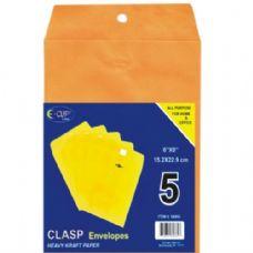 48 Units of Clasp Envelopes, 6x9, 5 Pk. - Envelopes