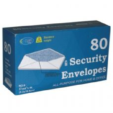 24 Units of Security Envelopes - 80 count - #6 - Boxed - Envelopes