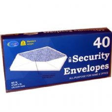 24 Units of Security Envelopes - 40 count - # 10 - Envelopes