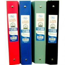 "48 Units of Binder - Flexible Assorted Colors - 1.5"" - 3 rings - Clipboards and Binders"