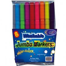 48 Units of Jumbo Washable marker 8ct - Markers and Highlighters