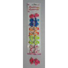 60 Units of 10pc Child's Hair Clip [Polka Dot with Gem] - Hair Accessories