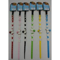 "48 Units of 12"" Dog/Cat Collar with Bow & Bell - Pet Accessories"