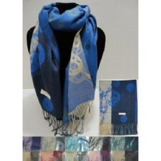 36 Units of Pashmina with Fringe--Cosmic Butterflies