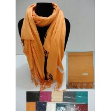 24 Units of Pashmina with Fringe--Solid Color