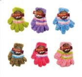 144 Units of Childrens Stretch Fuzzy Gloves - Store