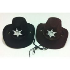 24 Units of Childs Felt Cowboy Hat with Large Star - Cowboy & Boonie Hat