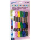 48 Units of Craft Thread Floss 6 Pack - Sewing Thread