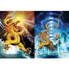 50 Units of 3D Picture-Dragon with Lightning Bolt - 3D Pictures