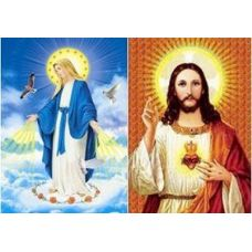 20 Units of 3D Picture-Jesus/Mary - 3D Pictures