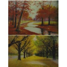 20 Units of 3D Picture-Trees in Autumn - 3D Pictures