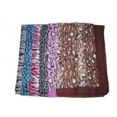 120 Units of Animal Scarf CHIFFON - Womens Fashion Scarves