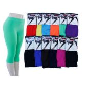 60 Units of Ladies Bright Color Capri Leggings - Womens Leggings