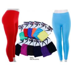 60 Units of Ladies Bright Colors Leggings - Womens Leggings