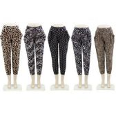 72 Units of Ladies Assorted Print Haren Pants - Womens Capri Pants