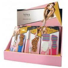 144 Units of Viva Nail Care Pedicure Set (4 Displays) - Manicure and Pedicure Items