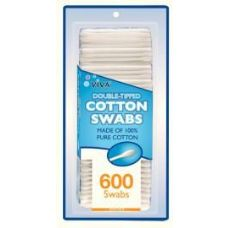 96 Units of 600 Count Cotton Swabs - Cotton Balls & Swabs
