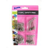 72 Units of Safety Pins 110 Piece Assorted - SAFETY PINS