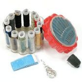 48 Units of Complete Sewing Kit in Plastic Holder - Sewing Supplies